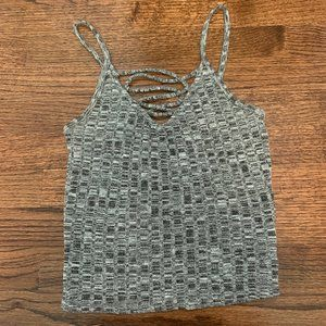 AEO First Essentials Knit Criss Cross Top